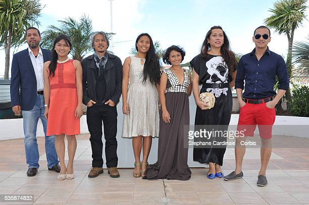 Lauro Rene Manda Angeli Bayani Director Lav Diaz Hazel Orencio Maya Quirino Moira and Archie Alemania attend the 'Norte Hangganan Ng Kasaysayan'...