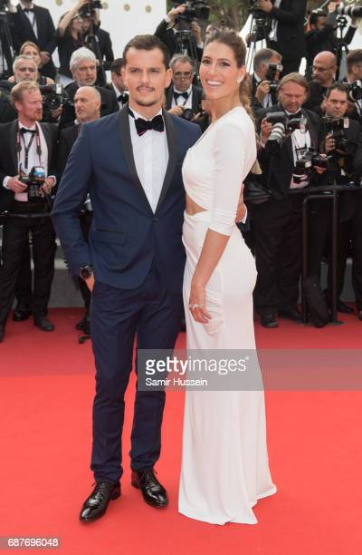 Laury Thilleman and Juan Arbelaez attend the 70th Anniversary screening during the 70th annual Cannes Film Festival at Palais des Festivals on May 23...
