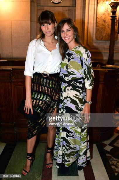 Laury Thilleman and Ophelie Meunier attend Longchamp 70th Anniversary Celebration at Opera Garnier on September 11 2018 in Paris France