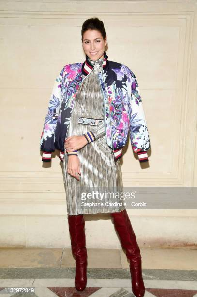 Laury Thilleman attend the Leonard Paris show as part of the Paris Fashion Week Womenswear Fall/Winter 2019/2020 on March 01 2019 in Paris France