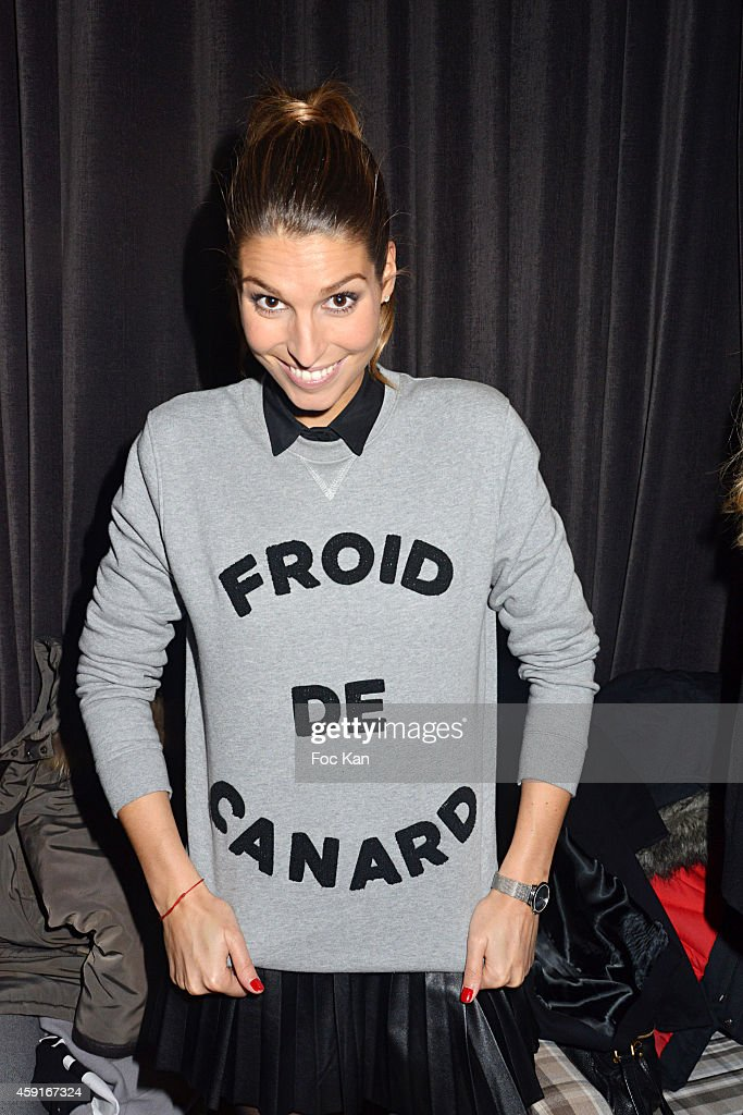 Laury Thilleman attends Saperlipopette' : Norbert Cremaillere Party on November 17, 2014 in Puteaux, France.