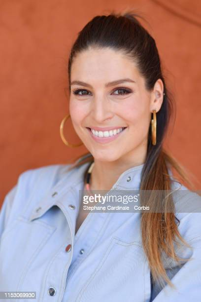 Laury Thilleman attends the 2019 French Tennis Open Day Seven at Roland Garros on June 01 2019 in Paris France