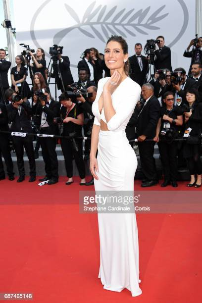 Laury Thilleman attends the 70th Anniversary of the 70th annual Cannes Film Festival at Palais des Festivals on May 23 2017 in Cannes France