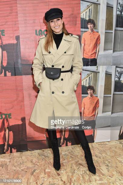 Laury Thilleman attends the Lacoste show as part of the Paris Fashion Week Womenswear Fall/Winter 2020/2021 on March 03 2020 in Paris France