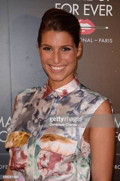Laury Thilleman attends the show 'The Art Of Illusion' at Palais De Tokyo on September 24 2014 in Paris France