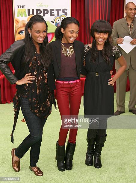 Lauryn Alisa McClain China Anne Mcclain and Sierra Aylina Mcclain attend 'The Muppet' Los Angeles Premiere at the El Capitan Theatre on November 12...