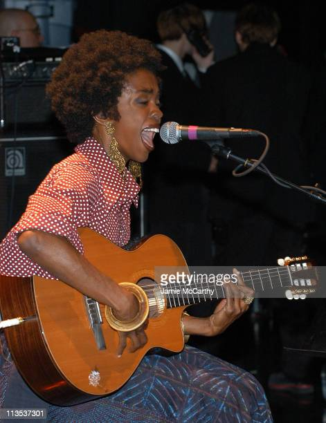 Lauryn Hill during Democratic Gain Rock The Vote Host 'Jump Off' at Avalon Nightclub in Boston Massachusetts United States