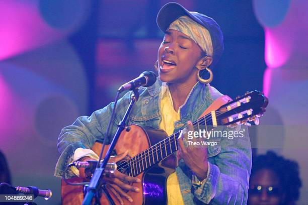 Lauryn Hill during Lauryn Hill performs 'Unplugged' at MTV Studios in Times Square New York City at MTV Studios in Times Square in New York City New...