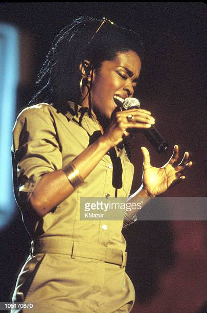 Lauryn Hill during TNT Bob Marley All Star Tribute at James Bond Beach in Oracabeca Beach Jamaica Jamaica
