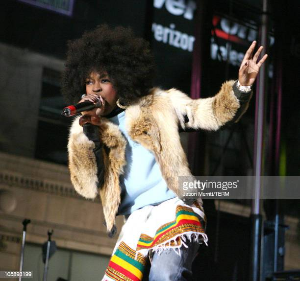 Lauryn Hill of The Fugees during Rolling Stone/Verizon Wireless PreGRAMMY Concert with The Fugees at Hollywood an Vine in Hollywood California United...