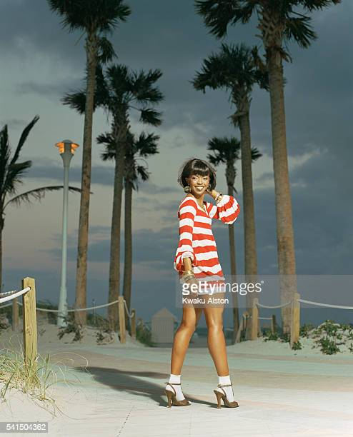 Lauryn Hill of the Fugees is photographed for Essence Magazine in 2005 in South Beach Miami Florida PUBLISHED IMAGE