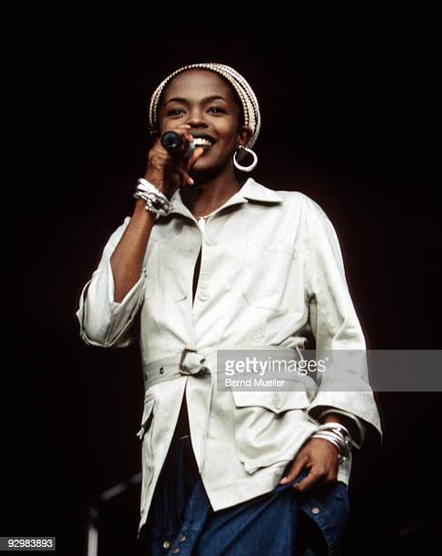 Lauryn Hill of the Fugees performs on stage at Rock Im Park on May 16th 1997 in Nuremberg Germany