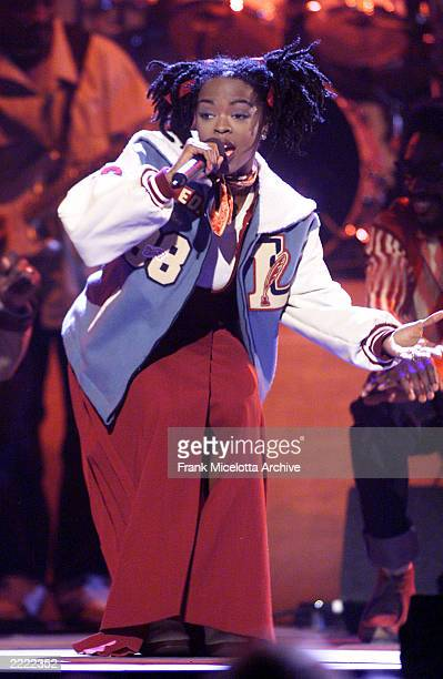 Lauryn Hill performing at the 1998 Billboard Music Awards in Las Vegas NV She won the award for RB Album of the Year