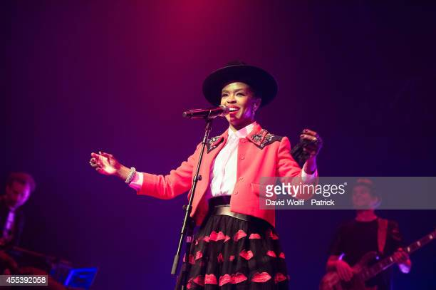 Lauryn Hill performs at Le Zenith on September 13 2014 in Paris France