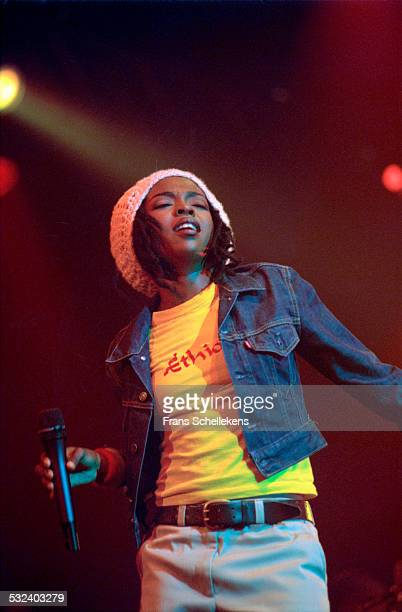Lauryn Hill performs at the Drum rhythm Festival on May 28 1999 at Westergasfabriek in Amsterdam Netherlands