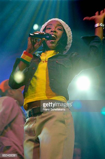 Lauryn Hill performs at the Drum rhythm Festival on May 28 1999 at Westergasfabriek in Amsterdam, Netherlands.