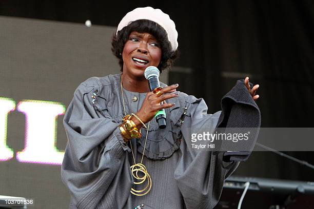Lauryn Hill performs during the 7th Annual Rock The Bells festival on Governors Island on August 28 2010 in New York City