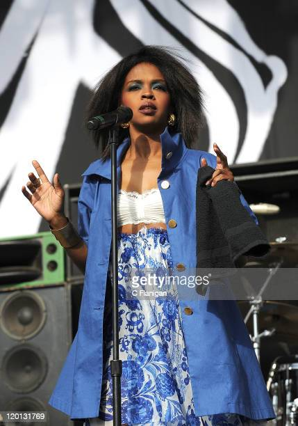 Lauryn Hill performs during the inaugural L.A. Rising Music Festival at Los Angeles Memorial Coliseum on July 30, 2011 in Los Angeles, California.