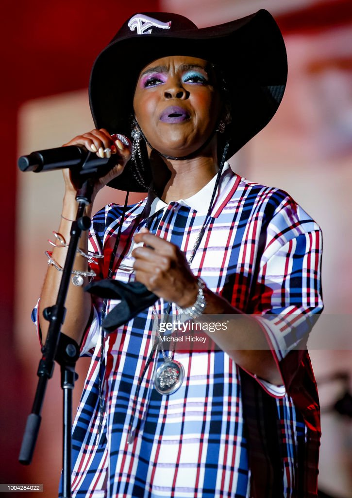 Lauryn Hill performs during the Pitchfork Music Festival at Union Park on July 22, 2018 in Chicago, Illinois.