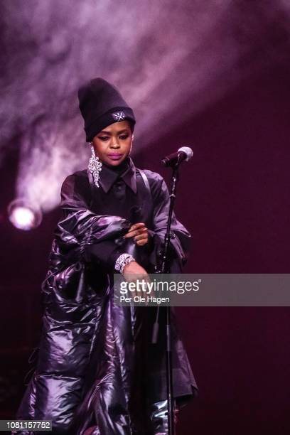 Lauryn Hill performs in celebration of the 20th anniversary of her album The Miseducation of Lauryn Hill on December 11 2018 in Oslo Norway