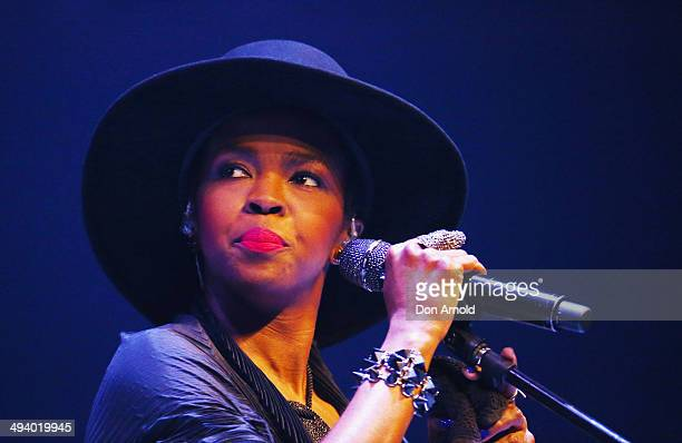 Lauryn Hill performs live for fans as part of VIVID Live 2014 at Sydney Opera House on May 27 2014 in Sydney Australia