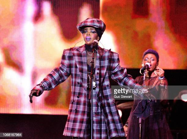Lauryn Hill performs live on stage during the 'The Miseducation of Lauryn Hill 20th Anniversary Tour' at The O2 Arena on December 3 2018 in London...