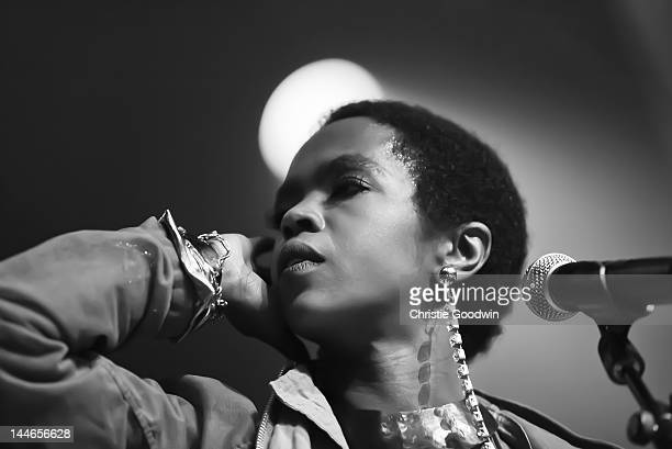 Lauryn Hill performs on stage at the Indigo2 on April 14 2012 in London United Kingdom