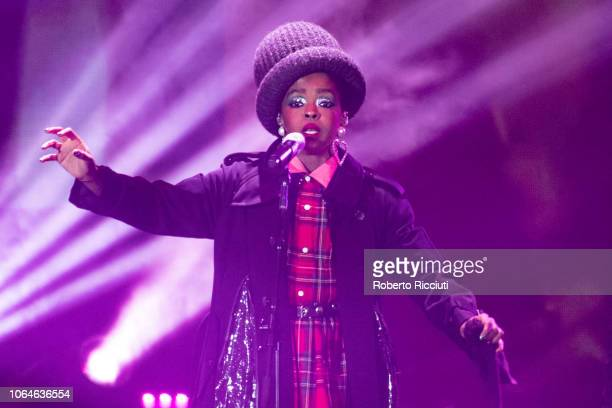 Lauryn Hill performs on stage at The SSE Hydro on November 23 2018 in Glasgow Scotland