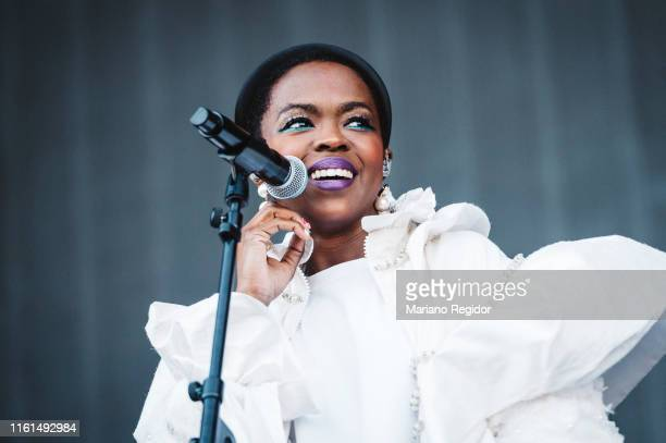 Lauryn Hill performs on stage during day 1 of Madcool Festival on July 11 2019 in Madrid Spain