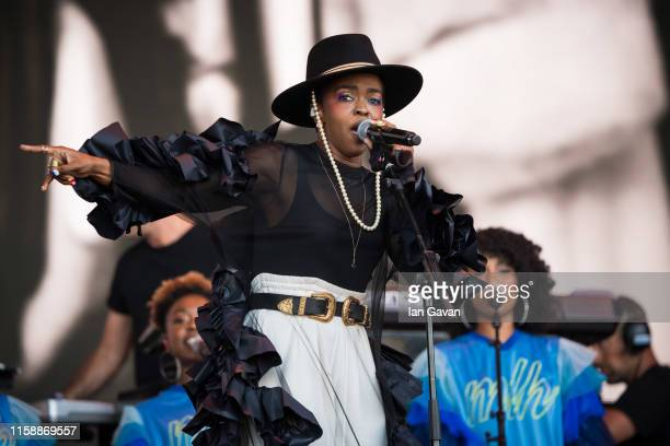 Lauryn Hill performs on stage during day three of the Glastonbury Festival at Worthy Farm Pilton on June 28 2019 in Glastonbury England