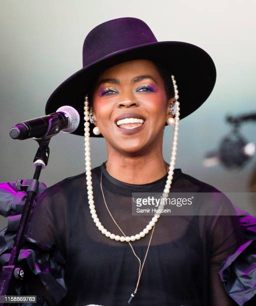 Lauryn Hill performs on the Pyramid Stage during day three of Glastonbury Festival at Worthy Farm Pilton on June 28 2019 in Glastonbury England