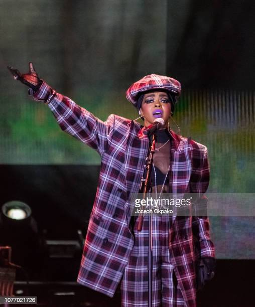 Lauryn Hill performs onstage on her The Miseducation of Lauryn Hill 20th Anniversary Tour at The O2 Arena on December 3 2018 in London England
