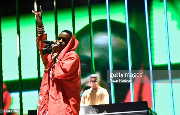 Lauryn Hill performs with DJ Snake at the Outdoor Stage during day 2 of the Coachella Valley Music And Arts Festival at the Empire Polo Club on April...