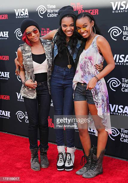 Lauryn McClain China Anne McClain and Sierra Aylina McClain attend 'The Lone Ranger' Los Angeles premiere at Disney California Adventure Park on June...