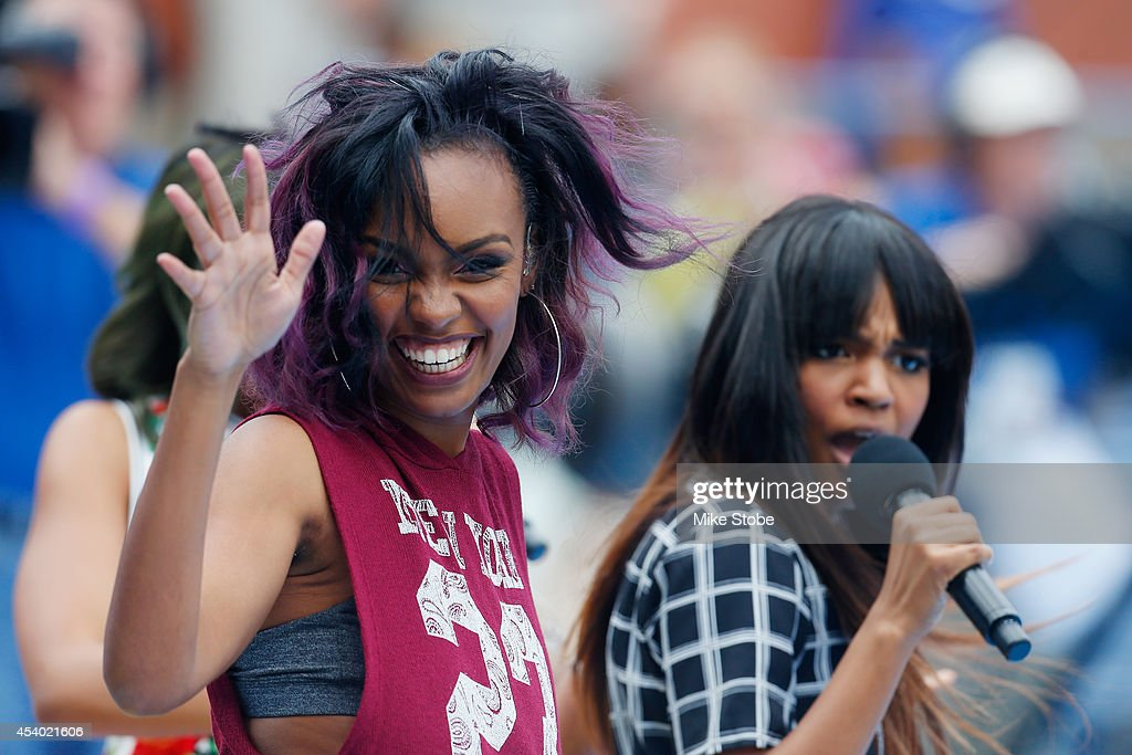 Lauryn McClain, China Anne McClain, and Sierra McClain of American Pop group McClain perform during Arthur Ashe Kids' Day prior to the start of the 2014 U.S. Open at the USTA Billie Jean King National Tennis Center on August 23, 2014 in the Flushing neighborhood of Queens in New York City.