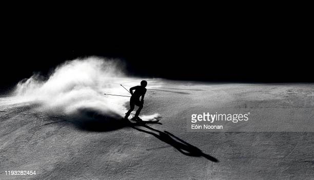 Lausanne Switzerland 12 January 2020 Sophie Foster of Great Britan competing in the Alpine Skiing Women's Giant Slalom during day 3 of the Winter...