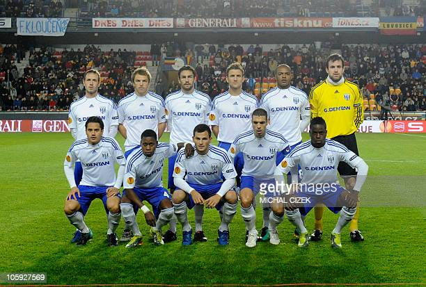 FC LausanneSport football team pose before the UEFA Europa League Group F football match between Sparta Prague and FC LausanneSport on October 21...