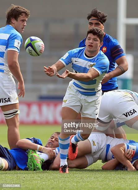 Lautaro Bazan Velez of Argentina during the World Rugby U20 Championship match at the AJ Bell Stadium on June 7 2016 in Salford England