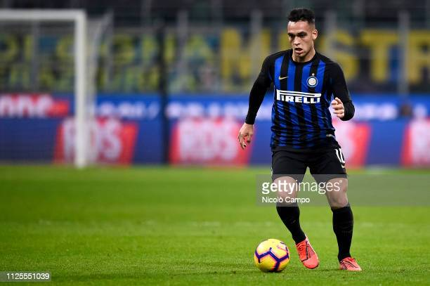 Lautaro Martinez of FC Internazionale in action during the Serie A football match between FC Internazionale and UC Sampdoria. FC Internazionale won...
