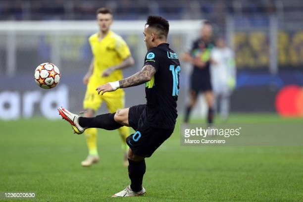 Lautaro Martinez of Fc Internazionale in action during the Uefa Champions League Group D match between FC Internazionale and FC Sheriff. Fc...