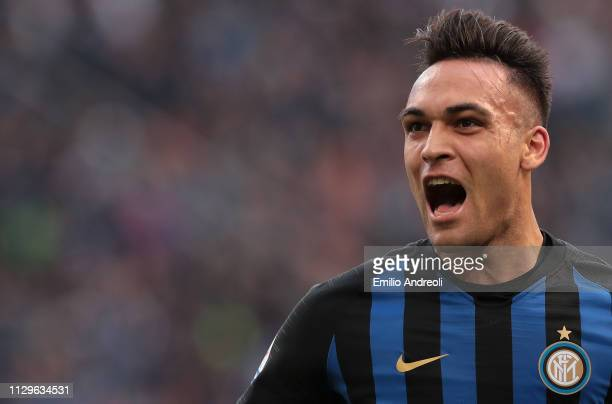 Lautaro Martinez of FC Internazionale shouts during the Serie A match between FC Internazionale and SPAL at Stadio Giuseppe Meazza on March 10 2019...
