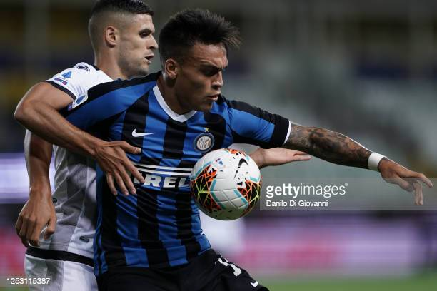 Lautaro Martínez of FC Internazionale in action during the Serie A match between Parma Calcio and FC Internazionale at Stadio Ennio Tardini on June...