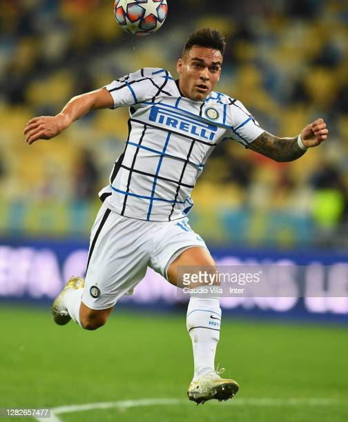 Lautaro Martínez of FC Internazionale in action during the UEFA Champions League Group B stage match between Shakhtar Donetsk and FC Internazionale...