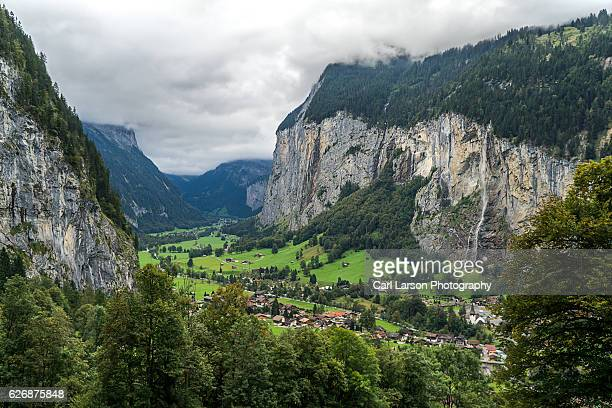 Lauterbrunnen Valley On A Cloudy Day