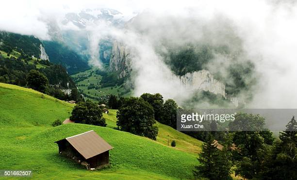 lauterbrunnen valley - xuan che stock pictures, royalty-free photos & images