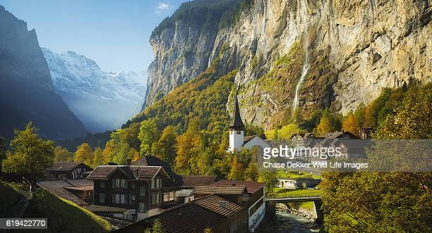 lauterbrunnen valley - bern stock photos and pictures