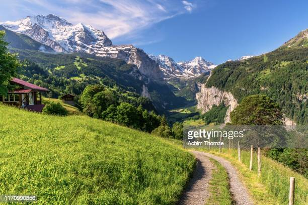 lauterbrunnen valley, switzerland, europe - swiss culture stock pictures, royalty-free photos & images