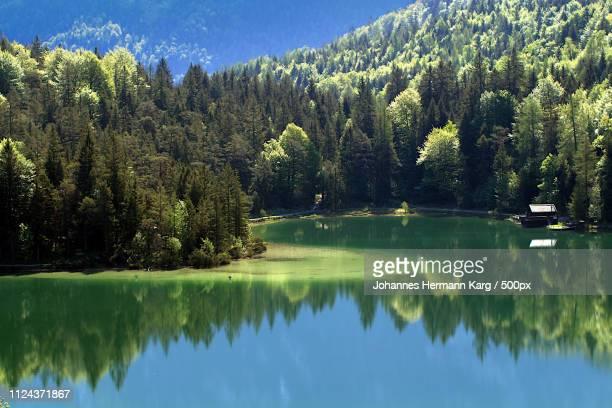 lautersee - mittenwald stock-fotos und bilder