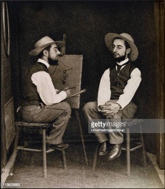 Lautrec from a double photograph Henri Marie Raymond de ToulouseLautrec Monfa 18641901 French painter printmaker draftsman and illustrator From the...