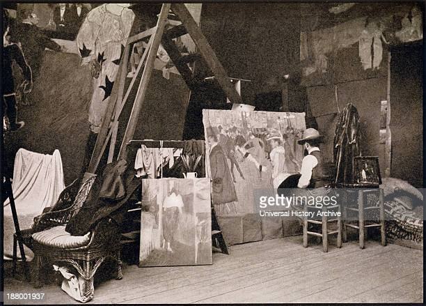 Lautrec In His Studio Rue Caulaincourt 1890 Henri Marie Raymond De ToulouseLautrec Monfa 18641901 French Painter Printmaker Draftsman And Illustrator...